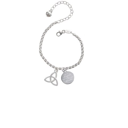 - Silvertone Large Trinity Knot Not All Angels Have Wings Some Wear Scrubs Engraved Bracelet