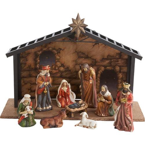 "Kurt Adler 3.5-5"" Porcelain 10-Piece Nativity Set"
