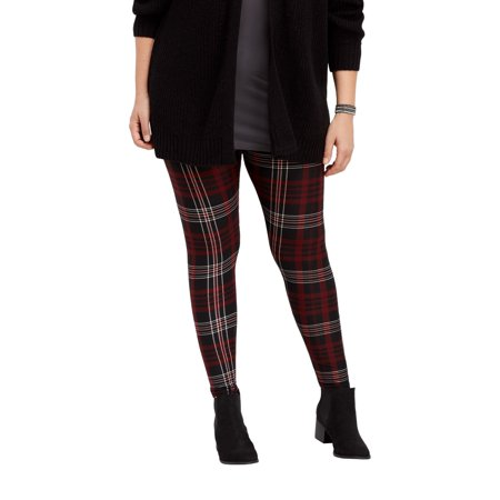 29cfda7c0d6e09 maurices - Plus Size Plaid Ultra Soft Legging - Walmart.com