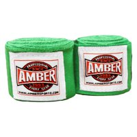 """Amber Fight Gear 200"""" Semi-Elastic Stretch Mexican Style Hand Wraps"""