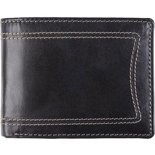 Daxx Men's Topstitched Bi-fold Genuine Leather Wallet