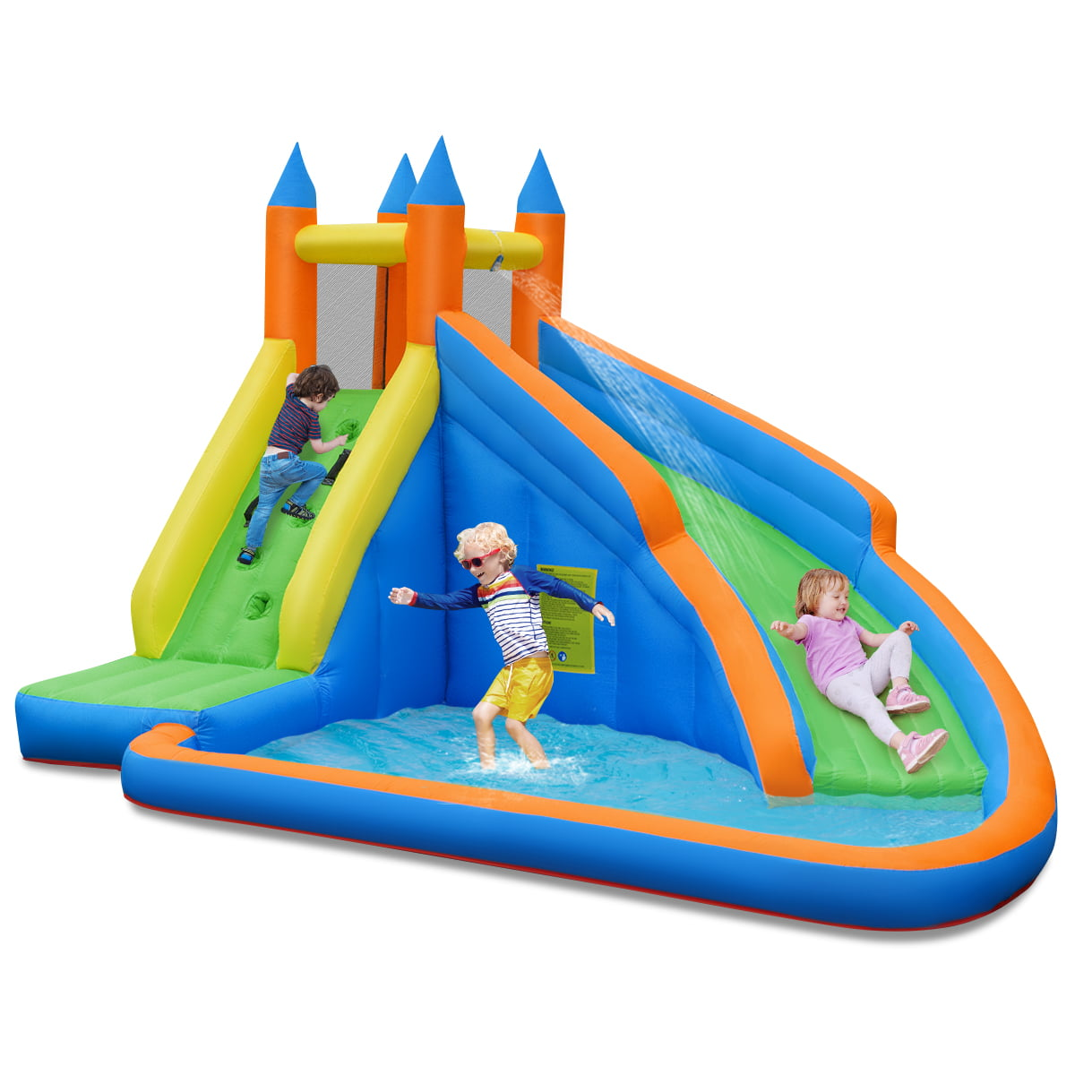 Costway Inflatable Water Slide Mighty Bounce House Jumper Castle Moonwalk Without Blower Walmart Com Walmart Com