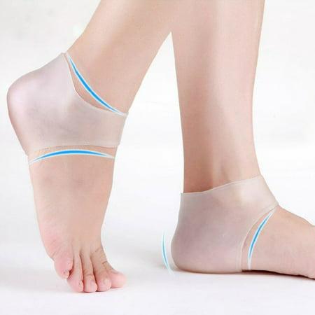 Plantar Fasciitis Heel Sleeve for Foot Pain Relief – Soft Gel Moisturizing Sock for Dry Heels (1