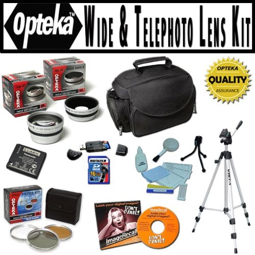 Opteka Ultimate Accessory package For Panasonic Lumix DMC...