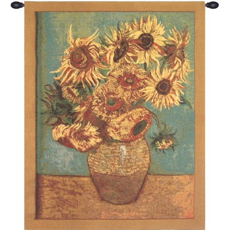 Sunflowers, Gold Tapestry Wholesale - B - H 33 x W 26 - image 1 of 1