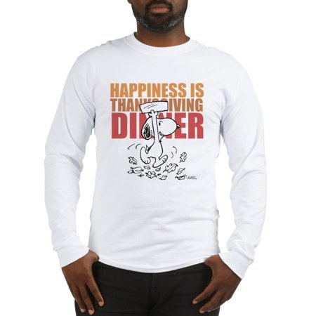 CafePress - Peanuts Happiness Thanksgiving - Unisex Cotton Long Sleeve T-Shirt - Peanuts Thanksgiving
