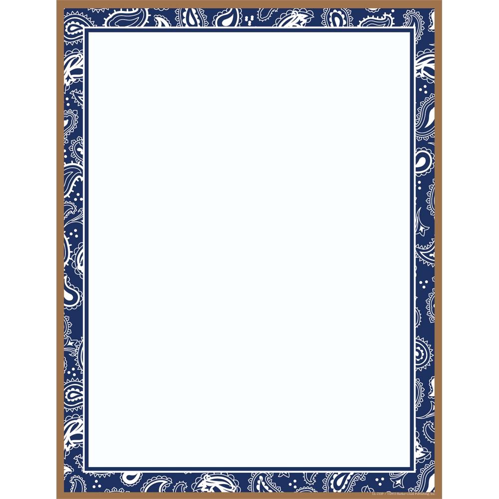 Barker Creek Blue Bandana Paper 50 Sheets