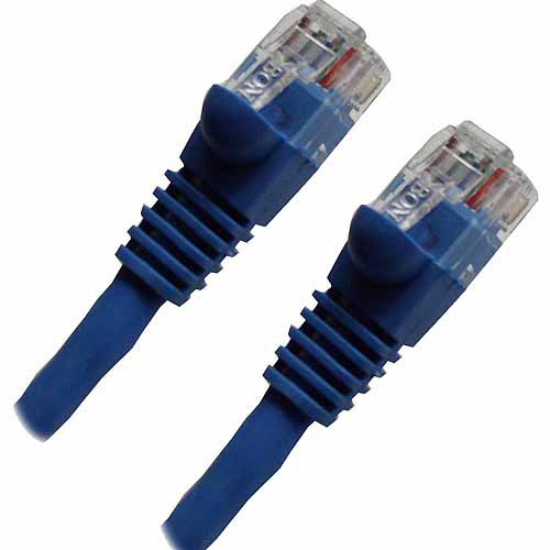 Professional Cable 100' Gigabit Ethernet UTP Cable with Boots, Blue