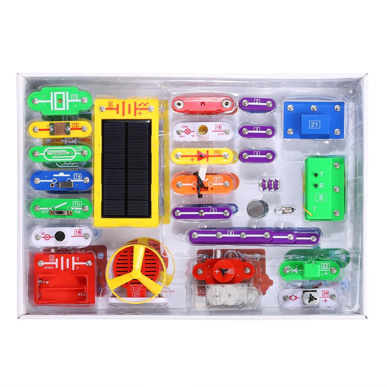 41 Pcs Circuits Smart Electronic Block Set Kids Children Educational For Science Toy Diy Building Kit