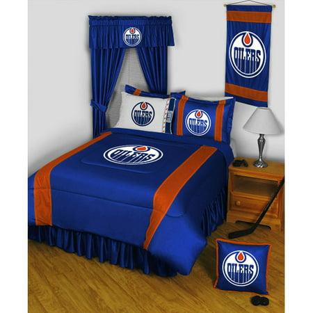 Edmonton Oilers SIDELINES Jersey Material Comforter