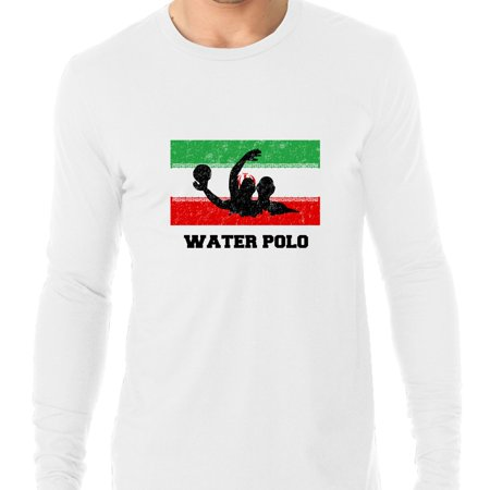 Iran Olympic - Water Polo - Flag - Silhouette Men's Long Sleeve T-Shirt