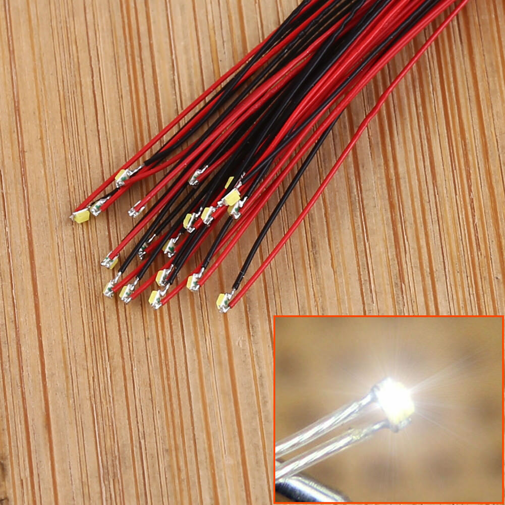 20-40pcs Pre-soldered micro litz wired leads Bright White SMD Led NEW T0402W