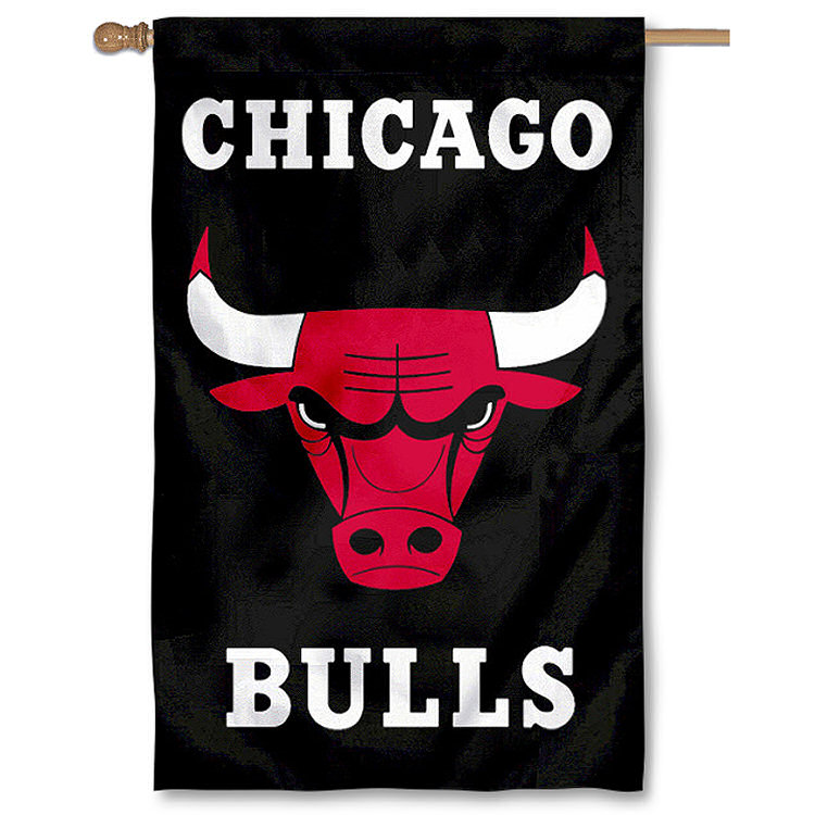 "CHICAGO BULLS 44""x28"" 2-SIDED BANNER FLAG"