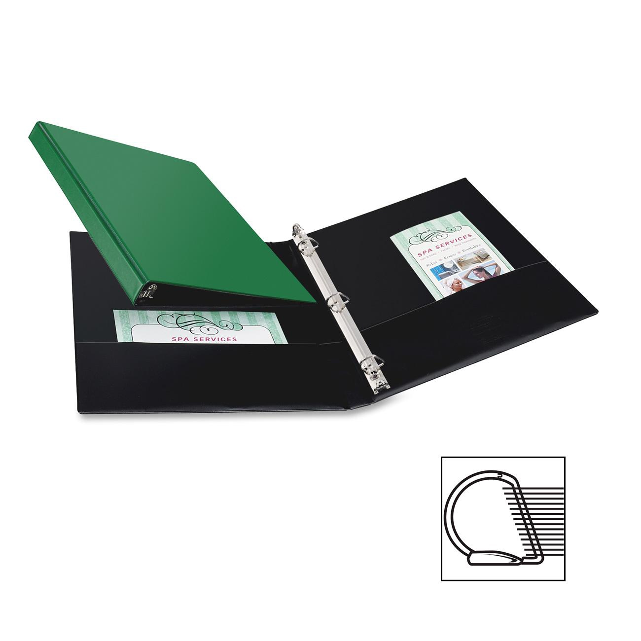 """Avery Durable Reference Binders - 11"""" X 8.5"""" - 0.5"""" Capacity - Green (27053)"""