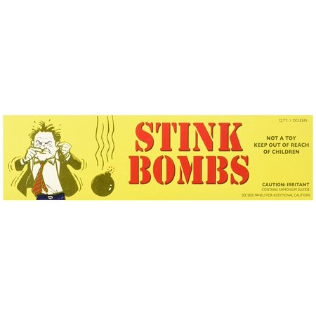 36 Stink Bombs-3 Glass Vials Per Box Stinky and Smelly Novelty, 36 stink bombs per case. By Rhode Island Novelty