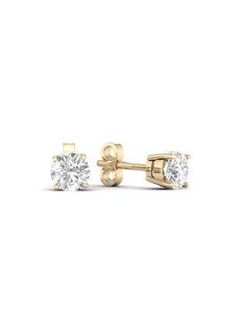 1/6Ct TDW Diamond 10K Yellow Gold Solitaire Stud Earrings