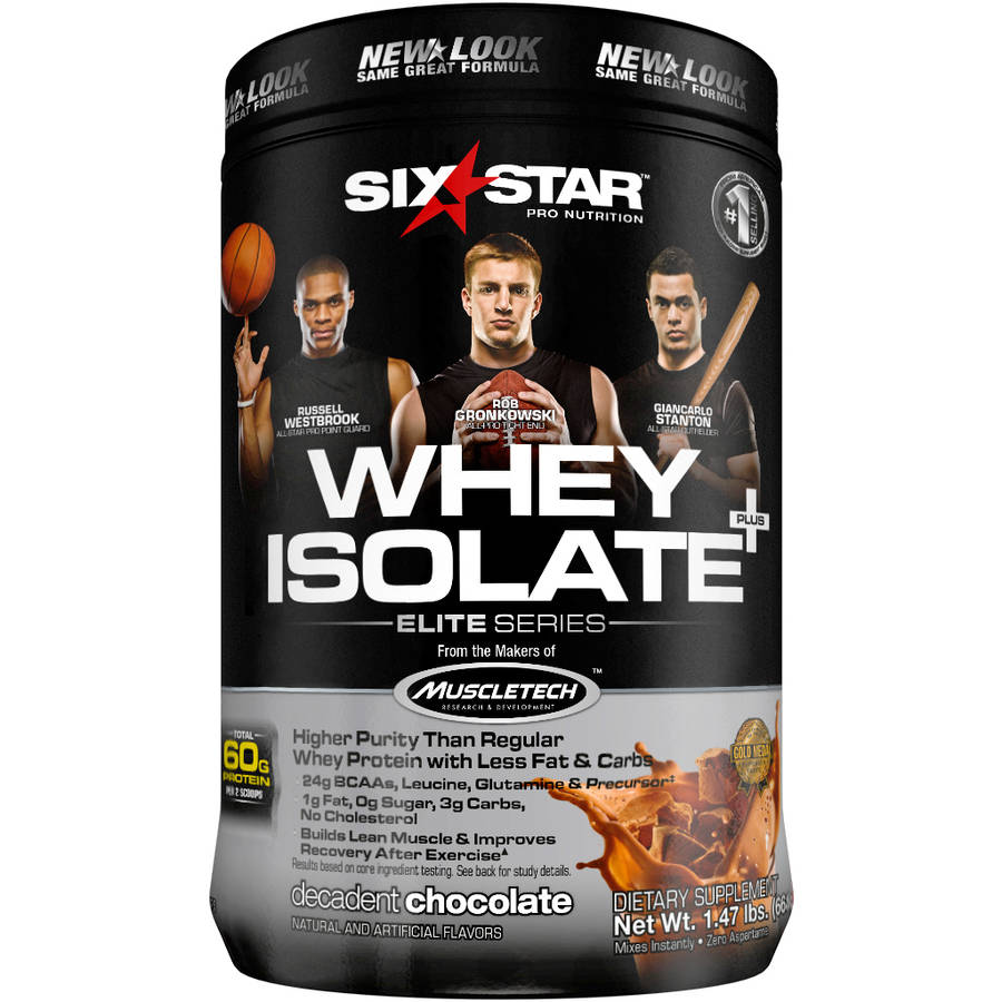 Six Star Pro Nutrition Whey Protein Isolate Decadent Chocolate, 1.5 lb