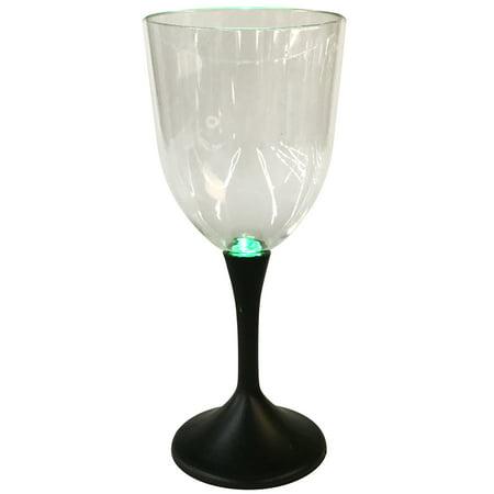 LED Plastic Wine Glass, Set of 2](Black Wine Glasses Bulk)