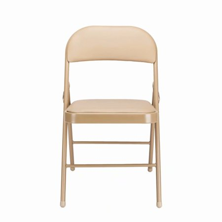 Clearance 4pcs Elegant Foldable Iron Pvc Chairs For Convention Exhibition Khaki