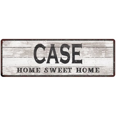 CASE Home Sweet Home Country Look Personalized 6x18 Metal Sig 106180045124 (Personalized Sweets)