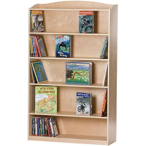 Guidecraft 6-Shelf Bookcase, Natural