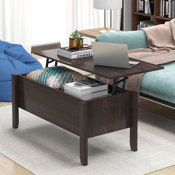 Anysun Wood Lift Top Coffee Table With Hidden Storage