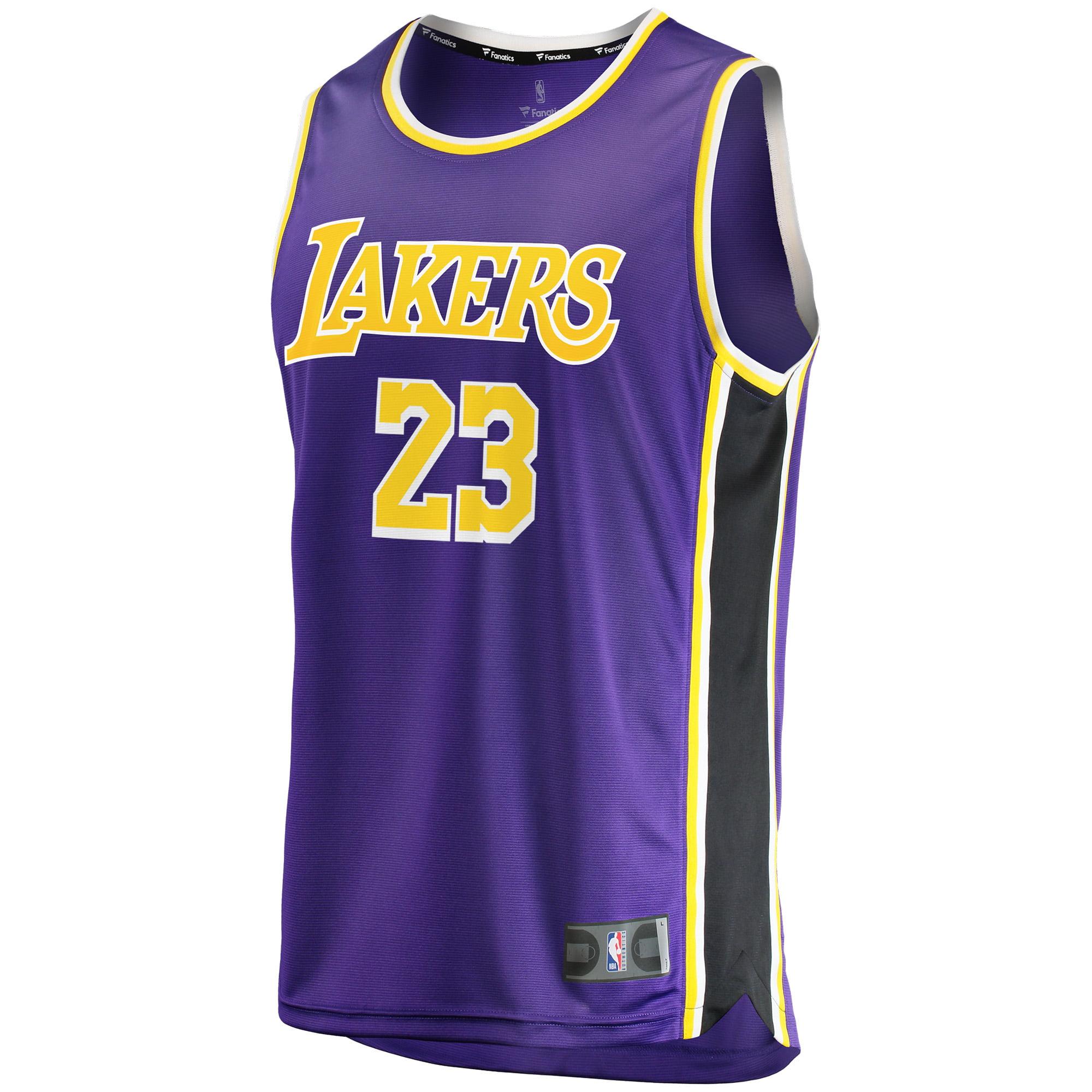 bafccd8c8 LeBron James Los Angeles Lakers Fanatics Branded Youth 2018 19 Fast Break  Replica Jersey Purple - Statement Edition - Walmart.com