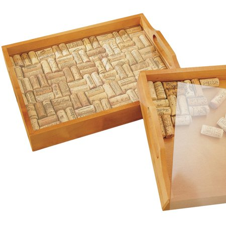 Wine Enthusiast Wine Cork Serving Tray Kit