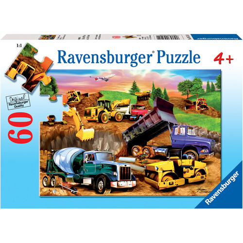 Ravensburger Construction Crowd Puzzle, 60 Pieces