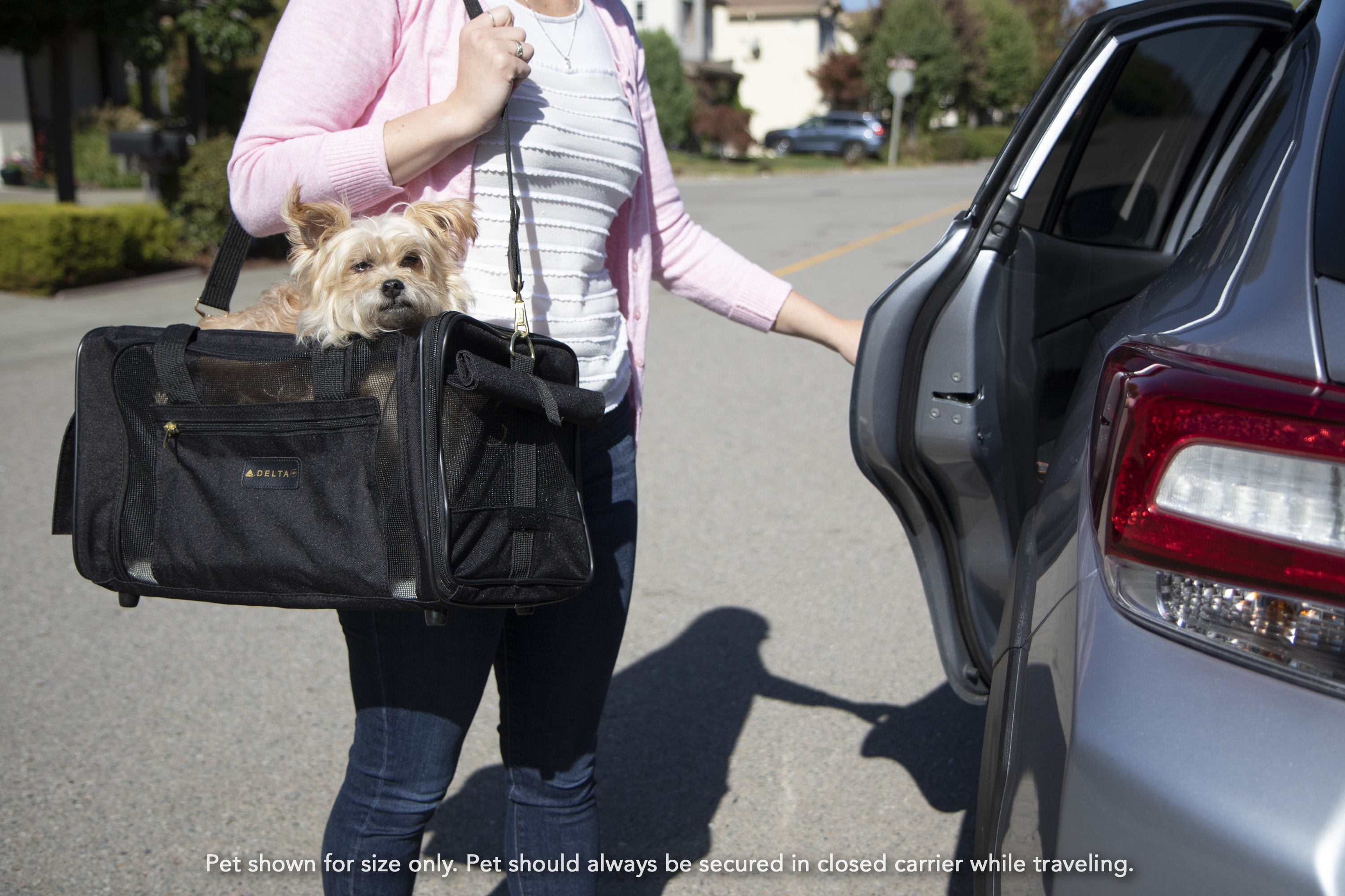 a137138a30 Sherpa® Travel Delta® Air Lines® Airline Approved Pet Carrier, Medium,  Black - Walmart.com