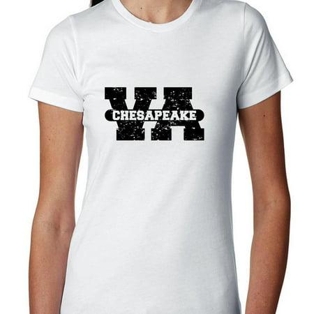 Chesapeake, Virginia VA Classic City State Sign Women's Cotton T-Shirt](Party City Chesapeake Va)