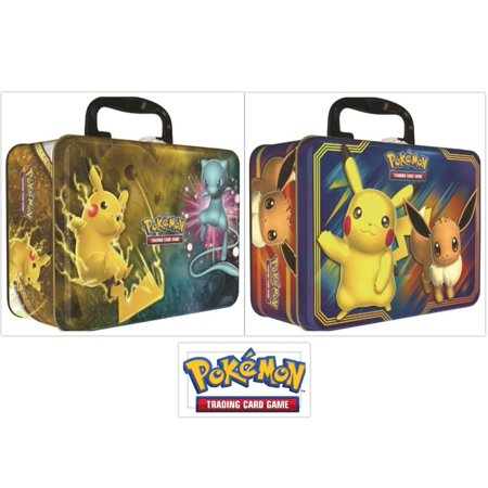 Chess Tin - Pokemon Fall 2018 Pikachu and Eevee Collector Chest Tin and Shining Legends Collection Chest Bundle, 1 of Each