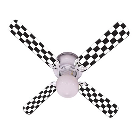 Ceiling Fan Designers Checkered Flag Indoor Ceiling Fan