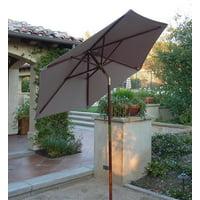 d4032ca067396 Product Image Formosa Covers 7ft wood market umbrella Tilt mechanism - Taupe