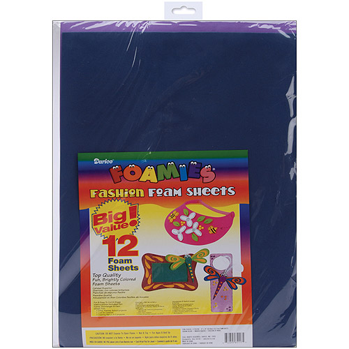 Darice Foamies Foam Sheets, 12/pkg, Fashion Colors