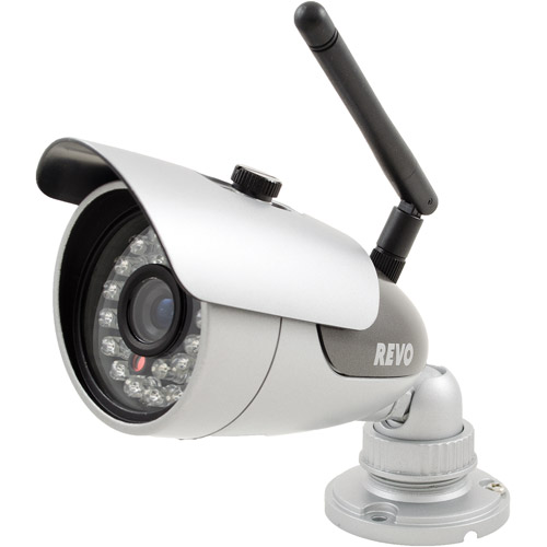 Revo America 600TVL Indoor/Outdoor Wireless Bullet Camera for Monitoring Hard-to-Reach Areas