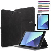 Samsung Galaxy Tab S3 9.7 Case, Mignova Slim Light Smart Cover Stand Case for Galaxy Tab S3 9.7-Inch Tablet SM-T820 T825 +Screen Protector Film and Stylus Pen (Black)