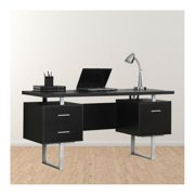 "Trent Home Ella 60"" Hollow-Core Office Desk in Cappuccino"