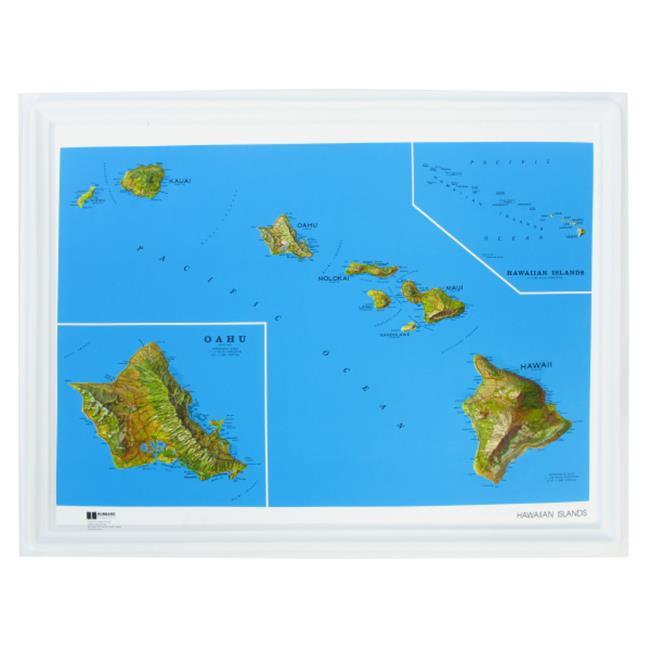 american educational products k-hi2217 hawaii ncr series map