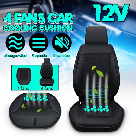 Seat Padded Fan - 4 Fan Cooling Car Seat Cushion Cover Air Ventilated Fan Conditioned Cooler Pad