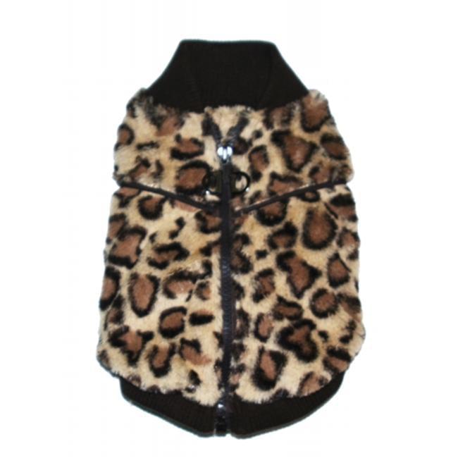 Hip Doggie HD-7BCV-XL Extra Large Brown Cheetah Mink Sweater Vest - image 1 de 1