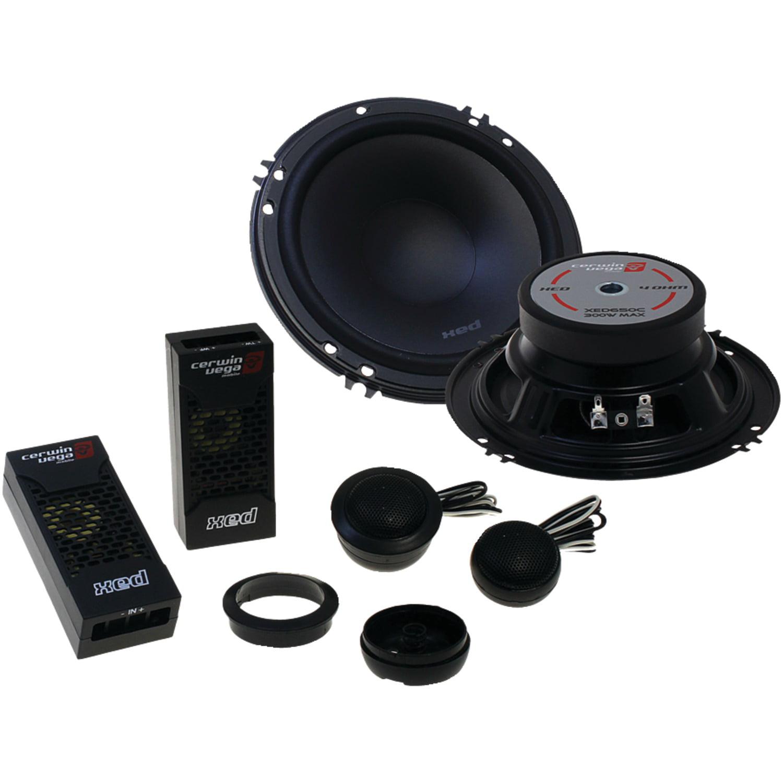 "CerwinVega Mobile XED650C XED Series 6.5"" 300-Watt Component Speaker System"