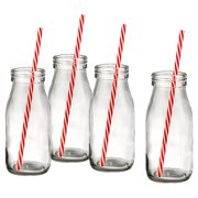 Artland Gingham 8 Piece Milk Bottle Set