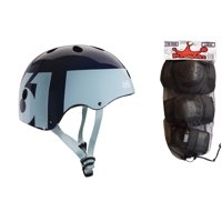 661 Dirt Lid Skate BMX Helmet Blue CPSC with Knee Elbow Wrist Pads Small