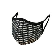 PRO MC 1Pcs unisex Cloth shiny Mesh Sequin Metallic face mask Protect Reusable Comfy Washable Made In USA