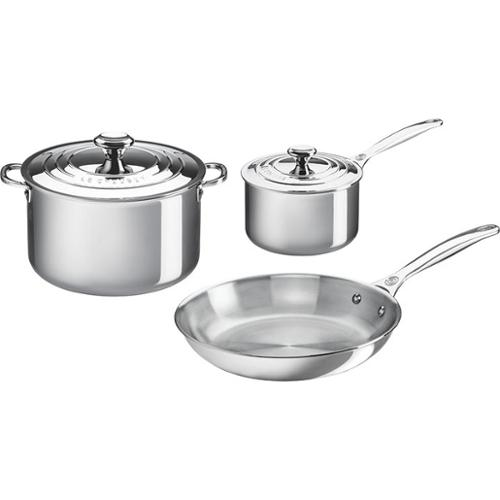 Le Creuset Stainless Steel 5 Piece Cookware Set SSP14105