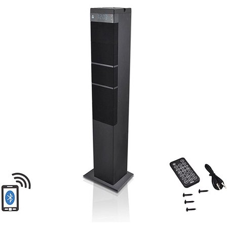 Pyle-Home Bluetooth 2.1-Channel Sound Tower Speaker System with USB Flash Drive Reader, AUX (3.5mm) and RCA Input Connectors, FM Radio and Remote Control