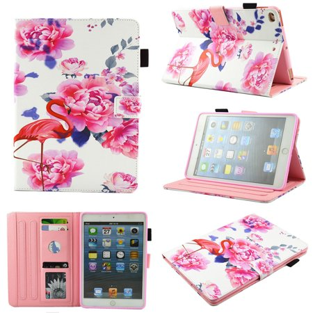 iPad 2nd/ 3rd/ 4th Generation Case 9.7 Inch, Allytech Slim Stand Heavy Duty Protective Girls Folio Smart Cover Auto Sleep Wake Protective Case for Apple iPad 2nd 3rd 4th Generation, Rose Flamingo Apple Ipod 4th Case