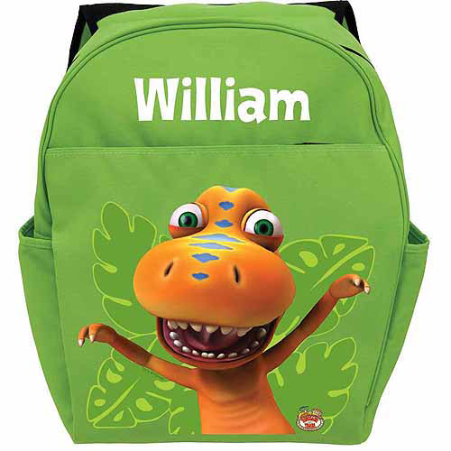 Personalized Dinosaur Train Buddy the T-Rex Green Backpack
