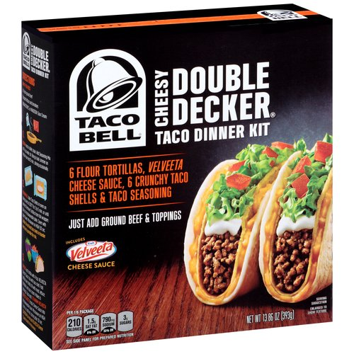 Taco Bell Cheesy Double Decker Taco Dinner Kit, 13.86 oz